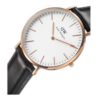 Daniel Wellington DW男表 40mm白盘金边皮带 0107DW(DW00100007)